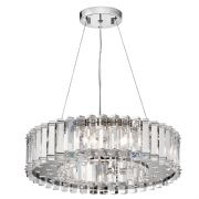 Crystal Syke 8 Light Chandelier in Polished Chrome and Crystal IP44 - KICHLER KL/CRSTSKYE8